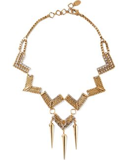 Awaken Gold-plated Swarovski Crystal Necklace