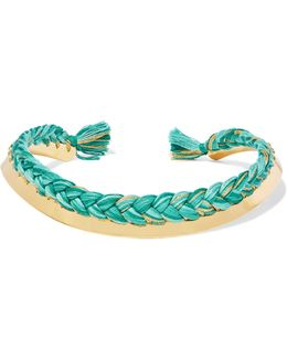 Gold-plated Braided Cotton Choker
