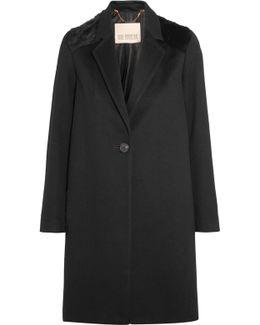 Shearling-paneled Merino Wool Coat