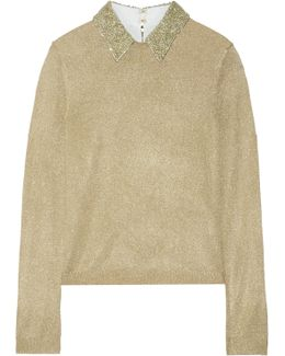 Dia Embellished Metallic Knitted Sweater