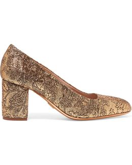 Gigi Metallic Brocade Pumps
