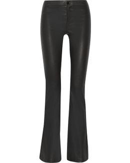 Vivia Stretch-Leather Pants