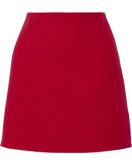 Irenah Saxton Stretch Wool-crepe Mini Skirt