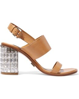 Monica Embellished Leather Sandals
