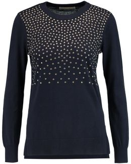 Embellished Cotton-blend Sweater