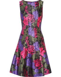 Printed Satin-twill Dress