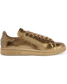 Stan Smith Perforated Metallic Leather Sneakers