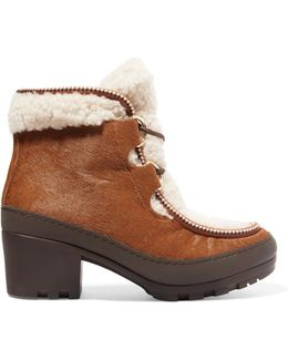 Berkley Calf Hair And Shearling Ankle Boots