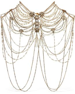 Swan Lake Gold-plated, Crystal And Faux Pearl Body Chain