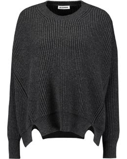 Cutout Ribbed Wool And Cashmere-blend Sweater