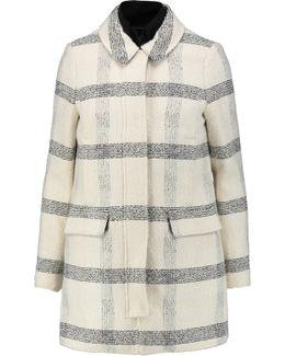 Plaid Cotton-blend Bouclé Coat