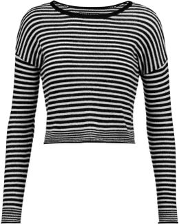 Kai Cropped Striped Wool-blend Sweater