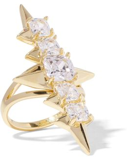 Mirach Gold-tone Crystal Ring