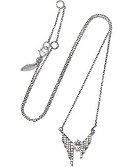 Silver-tone Crystal Necklace
