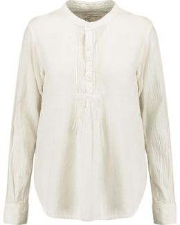 The Pintuck Cotton Blouse