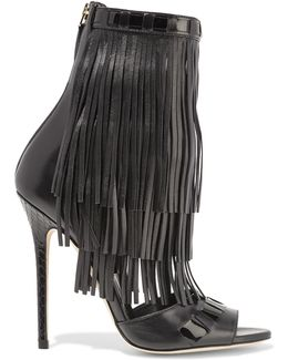 Abby Fringed Leather Sandals
