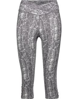Candace Cropped Printed Stretch-cotton Leggings