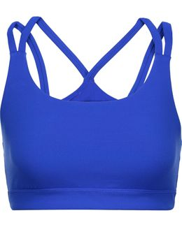 Sloan Mesh-paneled Stretch-jersey Sports Bra