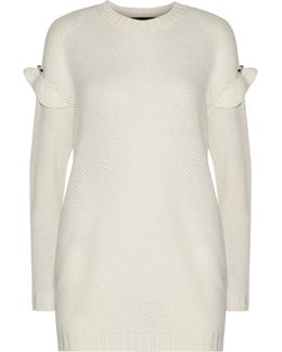 Freda Embellished Waffle-knit Wool-blend Sweater