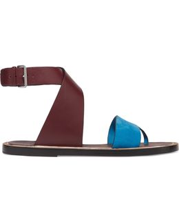 Mailin Suede And Leather Sandals