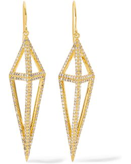 Montaillou Gold-tone Crystal Earrings