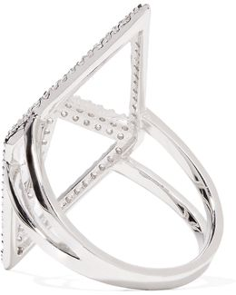 Sant'angelo Silver-tone Crystal Ring