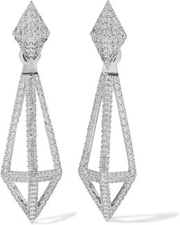 Blarney Silver-tone Crystal Earrings