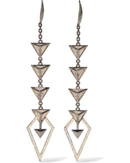 Hostage Gunmetal-tone Crystal Earrings