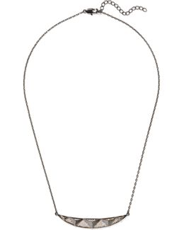 Taken Gunmetal And Gold-tone Crystal Necklace