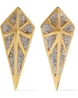 Hidden Gold-tone Crystal Earrings