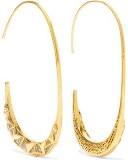 Trapped Gold-tone Crystal Earrings