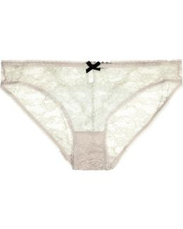 Surf Crush Low-rise Two-tone Stretch Corded-lace Briefs