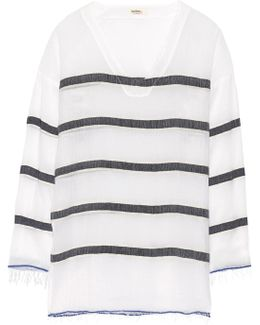 Bethany Striped Cotton-blend Gauze Tunic