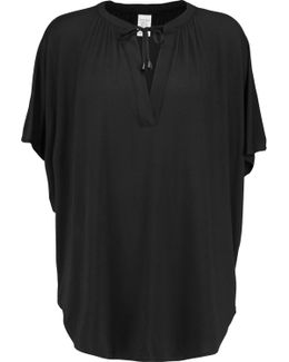Draped Jersey Pajama Top