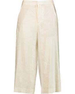 Marlena Linen-blend Culottes