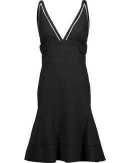 Fluted Stretch-cady Dress