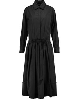 Ruffle-trimmed Cotton-blend Midi Dress