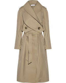 Double-breasted Gabardine Trench Coat