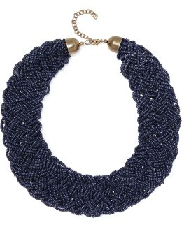 Beaded Gold-tone Necklace