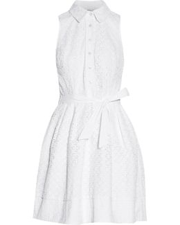 Broderie Anglaise Cotton-blend Mini Dress