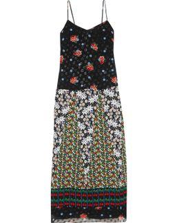 Silk Fil Coupé And Jacquard Maxi Dress