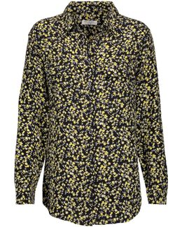Signature Floral-print Washed-silk Shirt