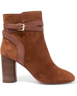 Glenda Baby Buckled Suede Ankle Boots