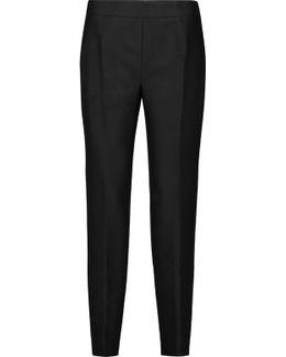 Wool And Silk-blend Slim-leg Pants