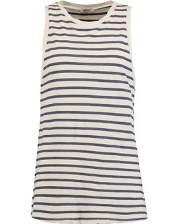 Striped Cotton-blend Tank