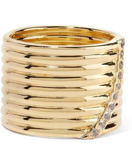 Vago Gold-tone Crystal Ring
