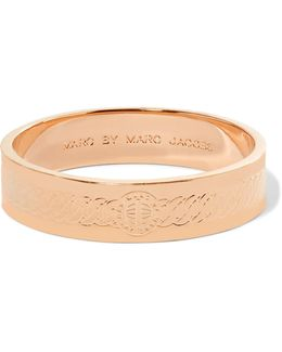Turnlock Engraved Rose Gold-tone Bangle