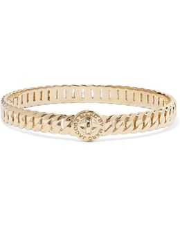 Turnlock Gold-tone Bangle