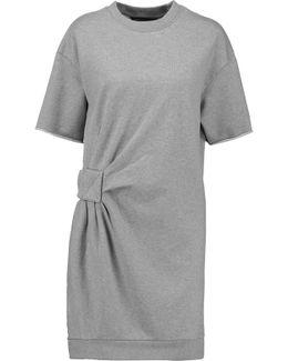 Gathered Cotton-jersey Mini Dress