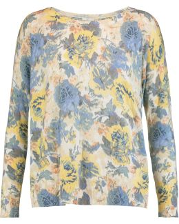 Eloisa Floral-print Knitted Sweater